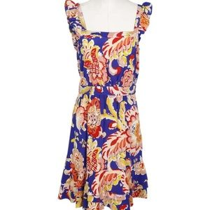 Tory Burch Silk Sleeveless Ruffle Dress - size 2